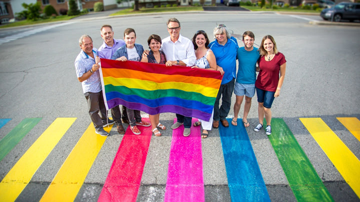 Employees of the City of Varennes celebrate diversity.
