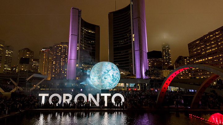Nuit Blanche Toronto annually transforms Nathan Phillips Square with contemporary art