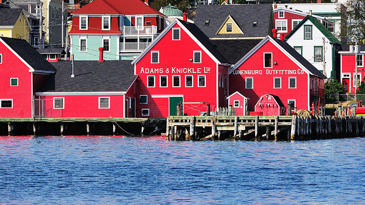 The Old Town of Lunenburg, Nova Scotia, a UNESCO World Heritage Site since 1995.